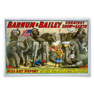 Barnum and Bailey Elephant Trainer Poster