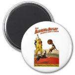 Barnum and Bailey: Football Dogs 2 Inch Round Magnet