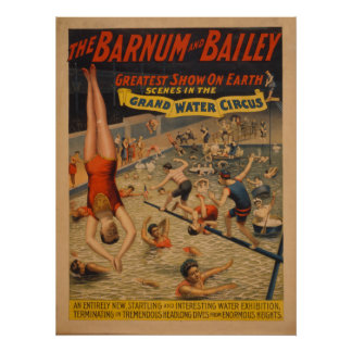 Barnum and Bailey Grand Water Circus Poster