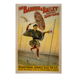 Barnum and Bailey Japanese Slide for Life Poster