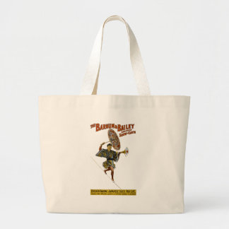 Barnum and Bailey: Japanese Tight-rope Walker Large Tote Bag