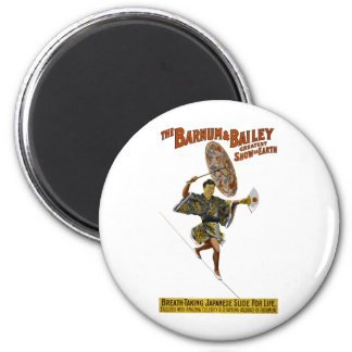 Barnum and Bailey: Japanese Tight-rope Walker Magnet