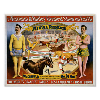 Barnum and Bailey - Rival Riders Poster