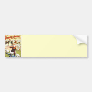 Barnum and Bailey Vintage Circus Poster Bumper Sticker