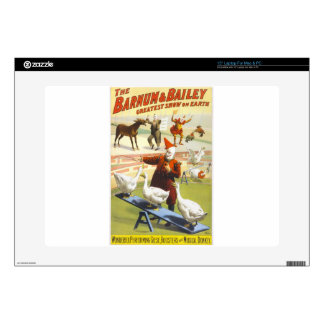 Barnum and Bailey Vintage Circus Poster Laptop Skin