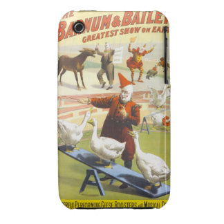 Barnum and Bailey Vintage Poster Blackberry Curve  iPhone 3 Case-Mate Cases