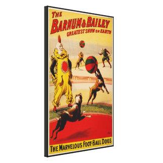 Barnum & Bailey Circus - Circa 1900 Canvas Print
