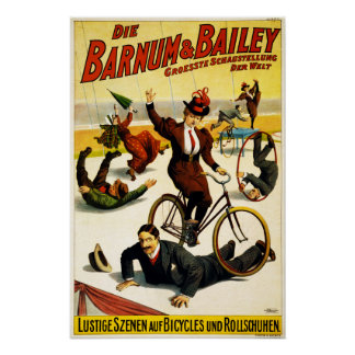 Barnum & Bailey Circus - Circa 1900 - In German Poster