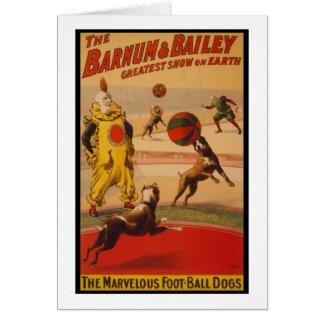 Barnum & Bailey Circus Foot-Ball Dogs Card