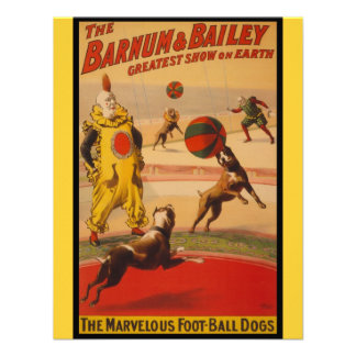 Barnum & Bailey Circus Foot-Ball Dogs Personalized Announcement