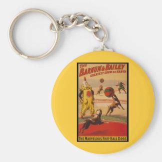 Barnum & Bailey Circus Foot-Ball Dogs Keychain
