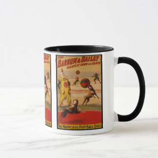 Barnum & Bailey Circus Foot-Ball Dogs Mug