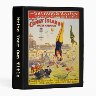 Barnum & Bailey Circus - Write Your Own Title Mini Binder