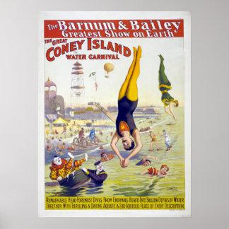 Barnum & Bailey Coney Island Circus Advertisement Posters