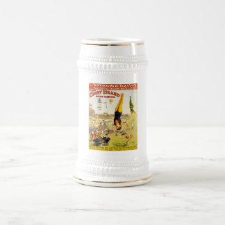 Barnum & Bailey Coney Island Water Carnival Beer Stein