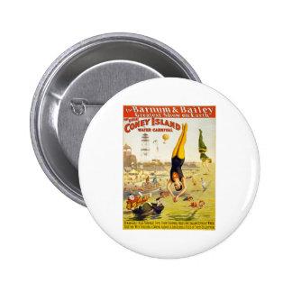 Barnum & Bailey Coney Island Water Carnival Button