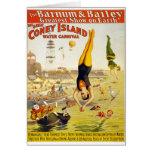 Barnum & Bailey Coney Island Water Carnival Greeting Card