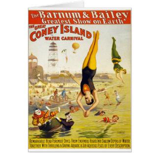 Barnum & Bailey Coney Island Water Carnival Card