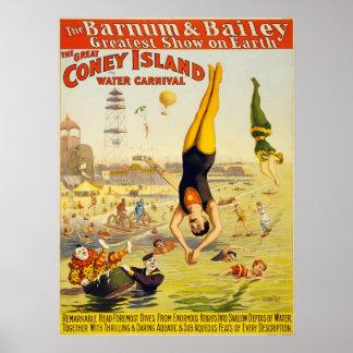 Barnum & Bailey Coney Island Water Carnival Print