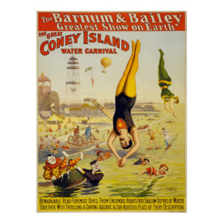 Barnum Bailey Coney Island Water Carnival Posters