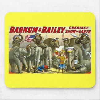 Barnum & Bailey - Elephants - Vintage Ad Mouse Pad