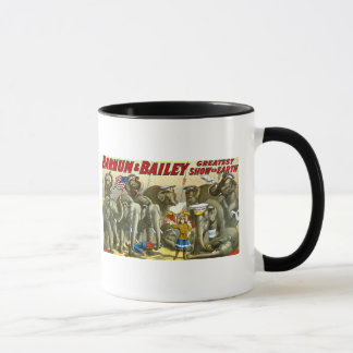Barnum & Bailey - Elephants - Vintage Ad Mug