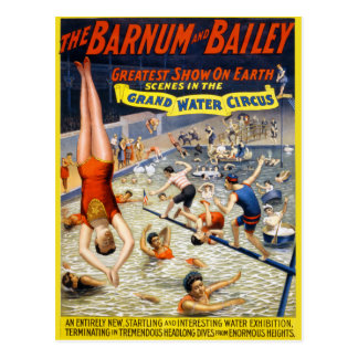 Barnum & Bailey Grand Water Circus Postcard
