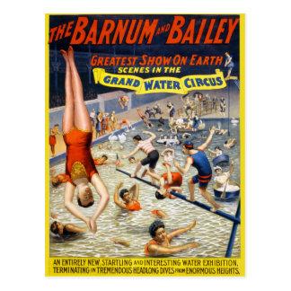 Barnum & Bailey Grand Water Circus Postcard