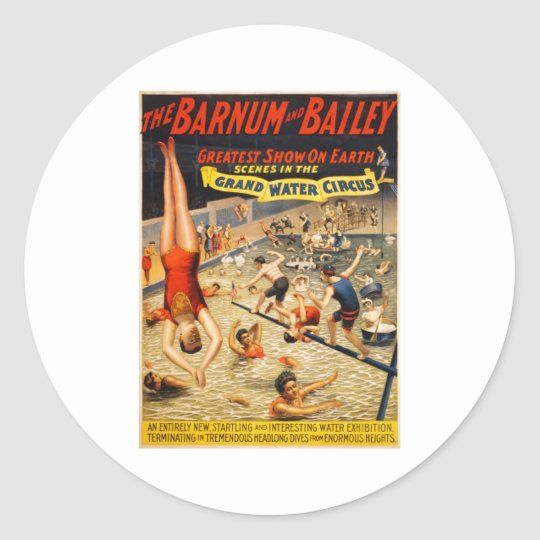 Barnum & Bailey Greatest Show on Earth Classic Round Sticker