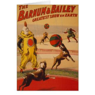 Barnum & Bailey - Marvelous Football Dogs Card