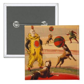 Barnum & Bailey - Marvelous Football Dogs Pinback Button