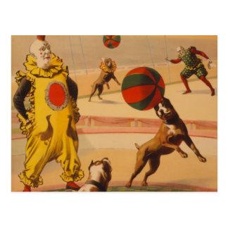 Barnum & Bailey - Marvelous Football Dogs Postcard