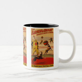 Barnum & Bailey - Marvelous Football Dogs Two-Tone Coffee Mug