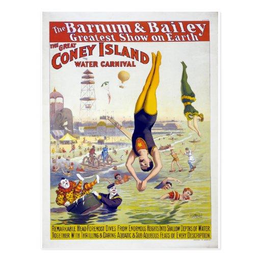 Barnum & Bailey New York Coney Island Circus Postcard