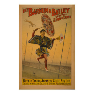 Barnum & Bailey Slide for Life Circus Poster