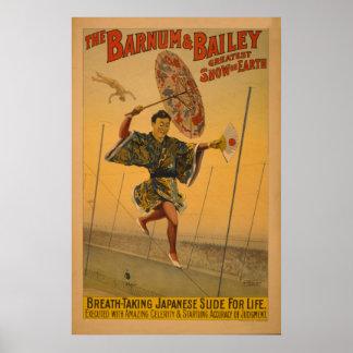 Barnum & Bailey Slide for Life Circus Poster