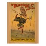 Barnum & Bailey Slide for Life Circus Poster Post Card