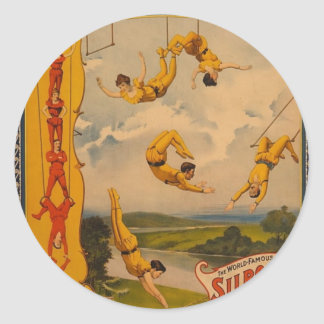 Barnum & Bailey / Trapeze Artists Classic Round Sticker