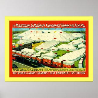 Barnum & Bailey  ~ Vintage Circus Poster