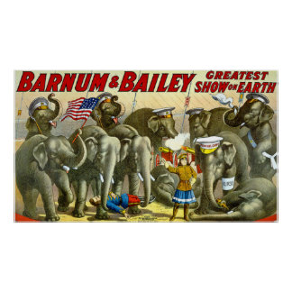 Barnum Bailey Vintage Elephants Poster