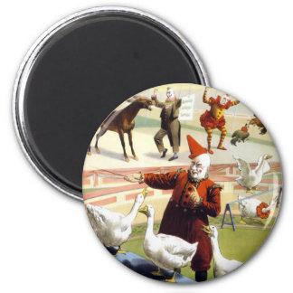 Barnum & Bailey - Wonderful Performing Geese 2 Inch Round Magnet