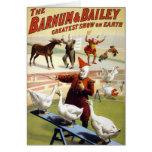 Barnum & Bailey - Wonderful Performing Geese Greeting Card