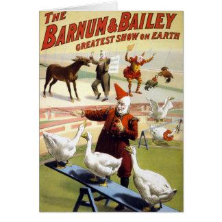 Barnum & Bailey - Wonderful Performing Geese Card