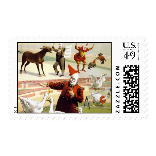 Barnum & Bailey - Wonderful Performing Geese Postage Stamp
