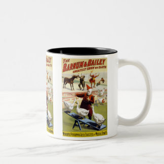 Barnum & Bailey - Wonderful Performing Geese Two-Tone Coffee Mug