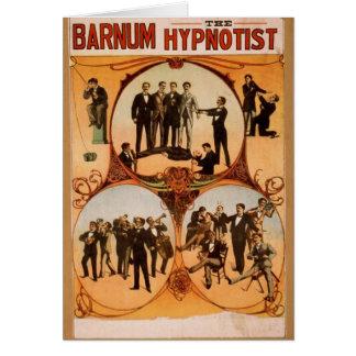 Barnum, 'The Hypnotist' Retro Theater Greeting Card