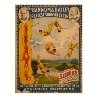 Barnum y Bailey/artistas de trapecio Postal