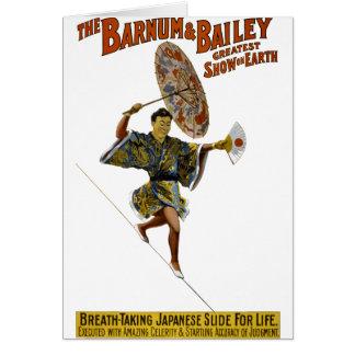 Barnum y Bailey: Caminante japonés de la cuerda de Felicitacion