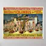 Barnum y Bailey - el descubrimiento de América Posters