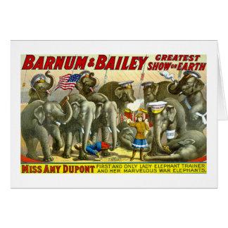 Barnum y Bailey - elefantes Tarjeta